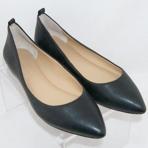 Banana Republic black leather pointed flats 6.5M